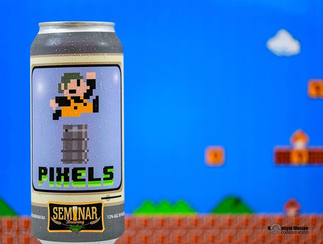 Do do do do do do....deet. Had Pixels yet from @seminarbrewing? Get ready for MEGA Pixels coming soon... #keepcold #drinkfresh #craftbeer #coldchain #modernhops #georgiabeer #gabeer #beer #brandbuilding #seminar #southcarolina #mario #supermario #nintendo #needluigi Photo: @hoptical_illusion