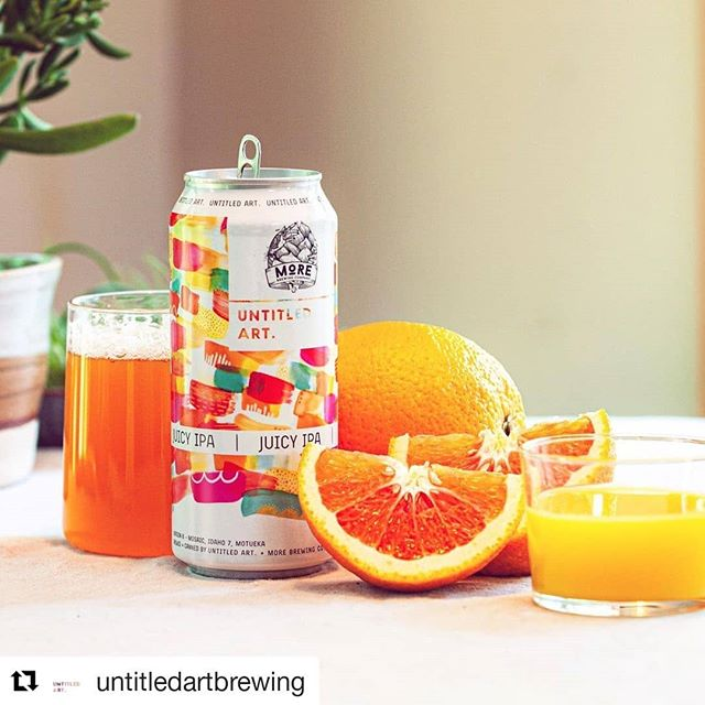 #Repost @untitledartbrewing ・・・ Hitting Georgia shelves next week. 🍋Version 6 Juicy IPA is here🍊! We collaborated with @morebrewing and we made the most refreshing version of JUICY yet!!! Going out to WI, FL, GA and IL now!!! #untitledartbrewing #newbeer #ipa  Artwork by @stephenie_purl_hamen