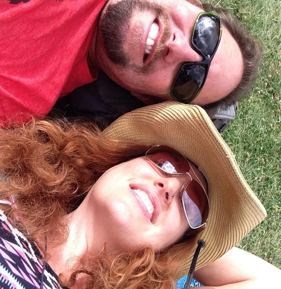 Chris Kendra in grass Arise Music Festival