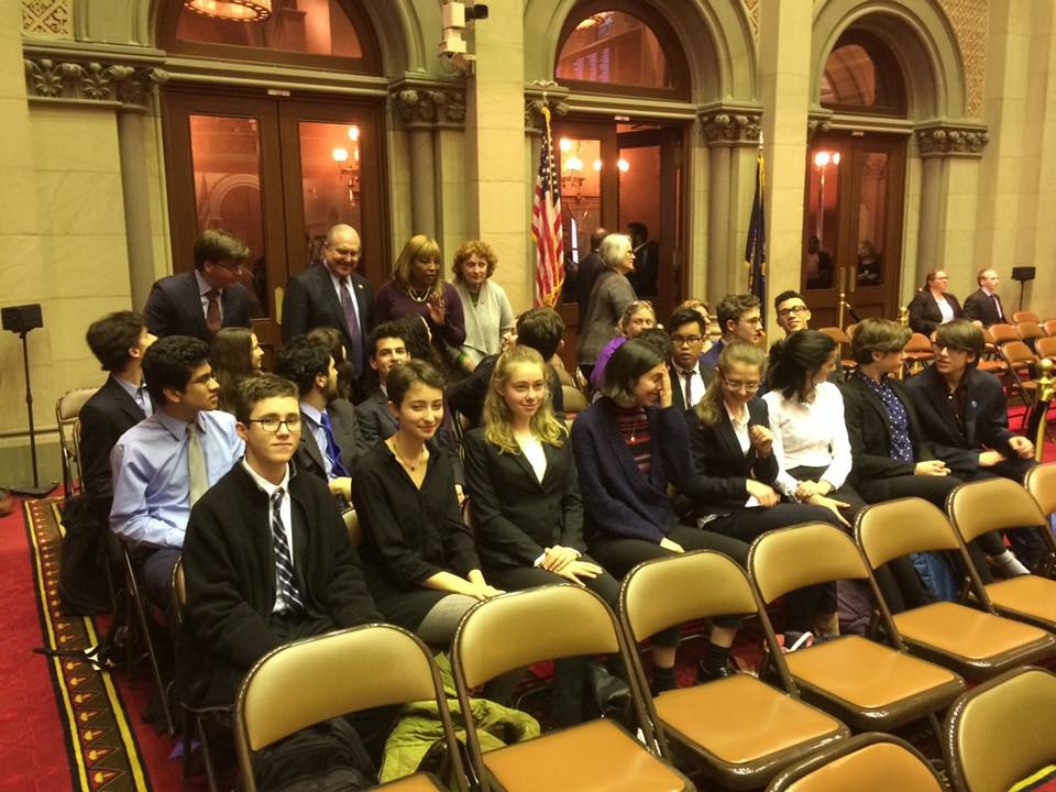 YPPG members on the floor of the New York State Assembly