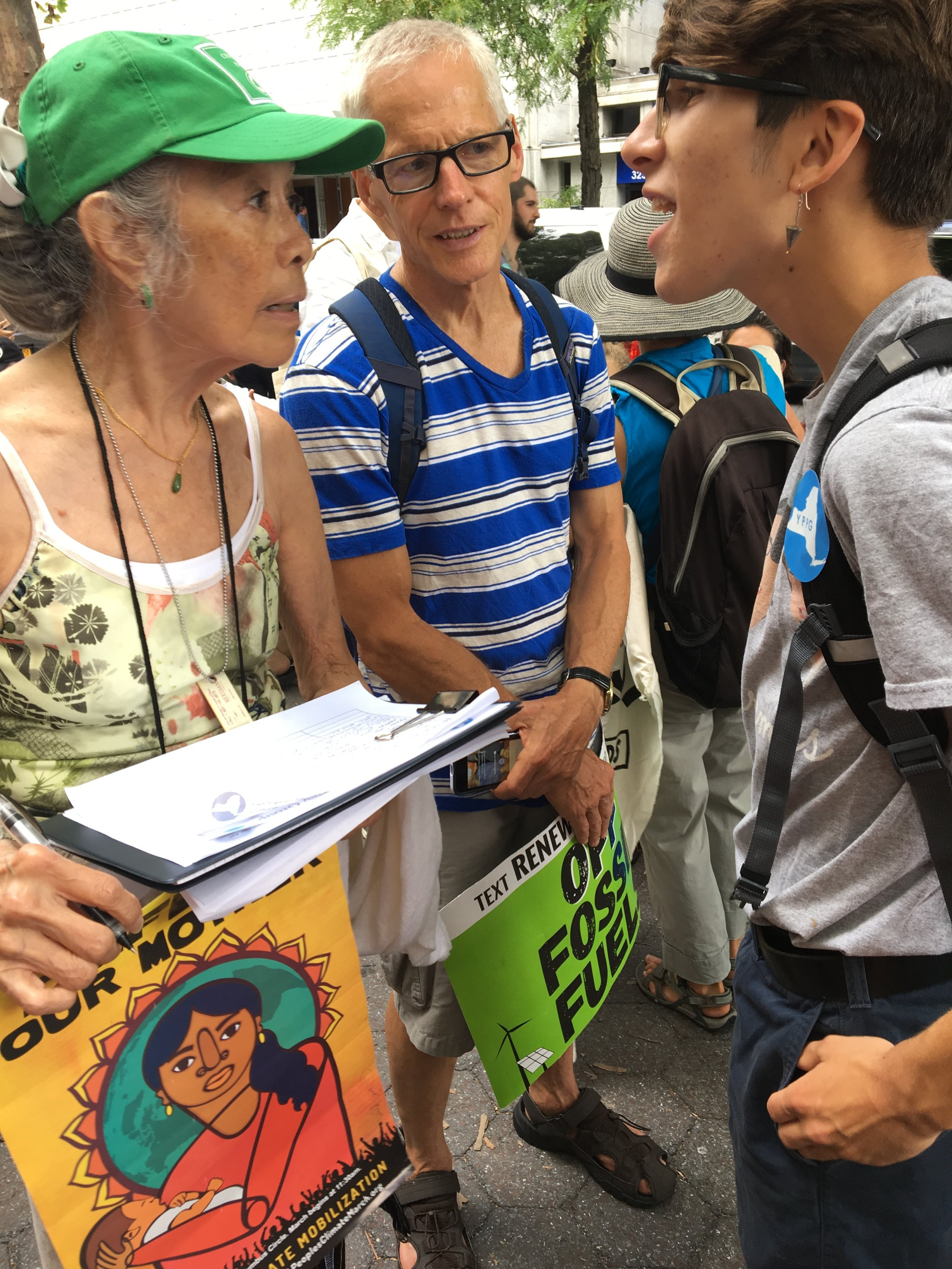 YPPG member Kai Franks petitions for the Young Voter act at the Zero Hour NYC Youth Climate March