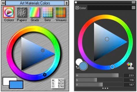 PAinter 3.0 (left), Painter 2019 (right)