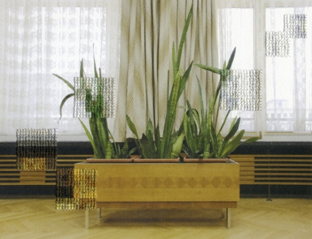 Plants, Former Offices of the State Secret Police Diane Meyer Hand sewn archival ink jet print 2012