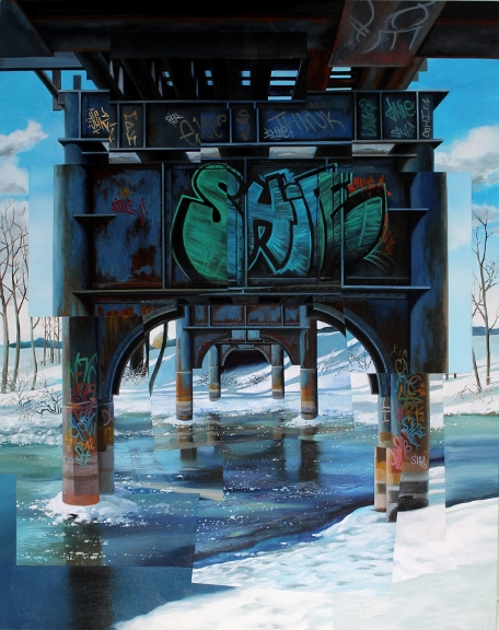 "Pittsfield Winter Redux Jessica Hess  oil on canvas  38"" x 30""  2015"