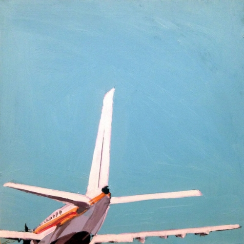 """Airplane"" by Jessica Brilli 8 x 8 inches, Oil on wood panel 2016"