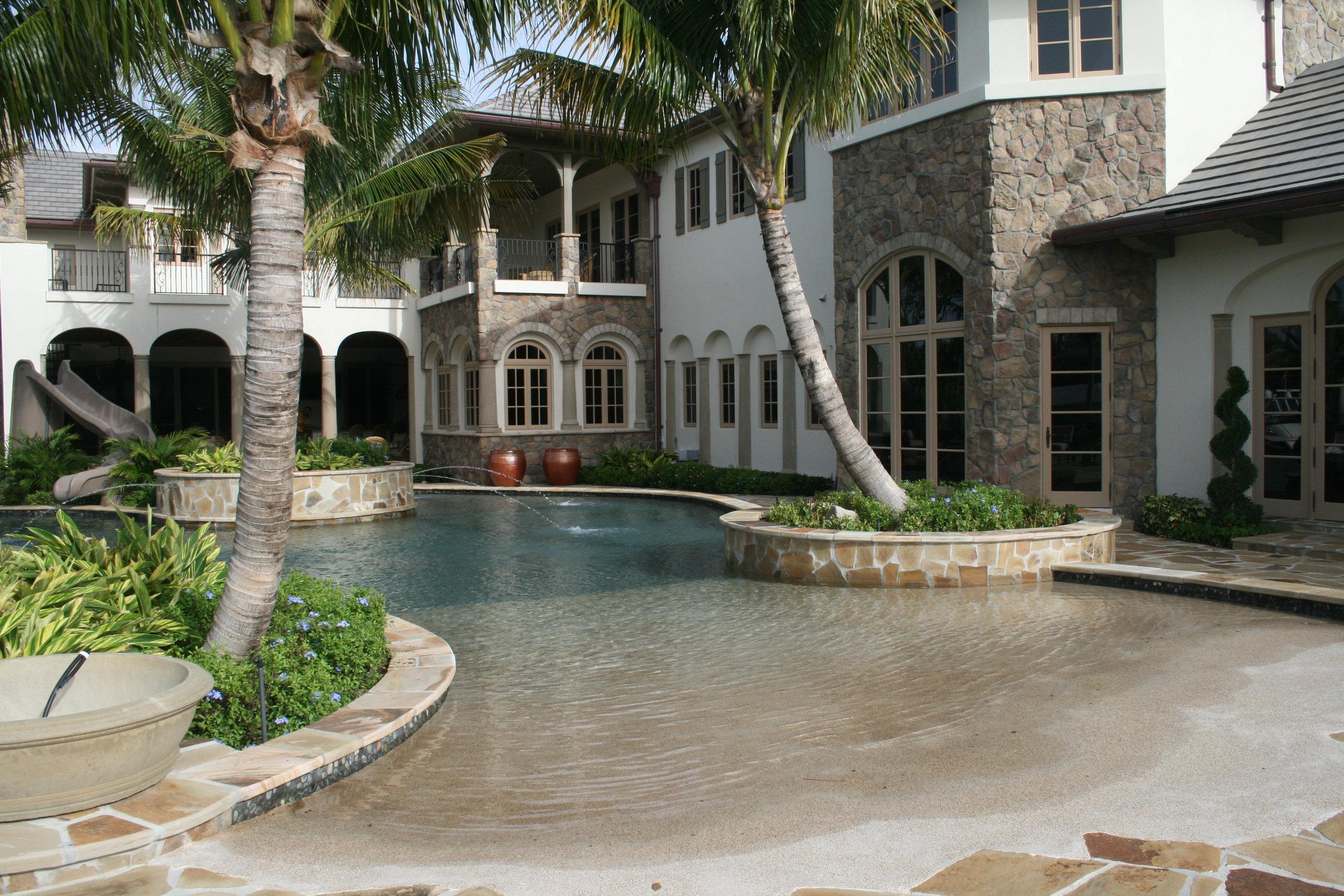 Walk In Entry Roberts Pool Design Pools Spas Waterfalls