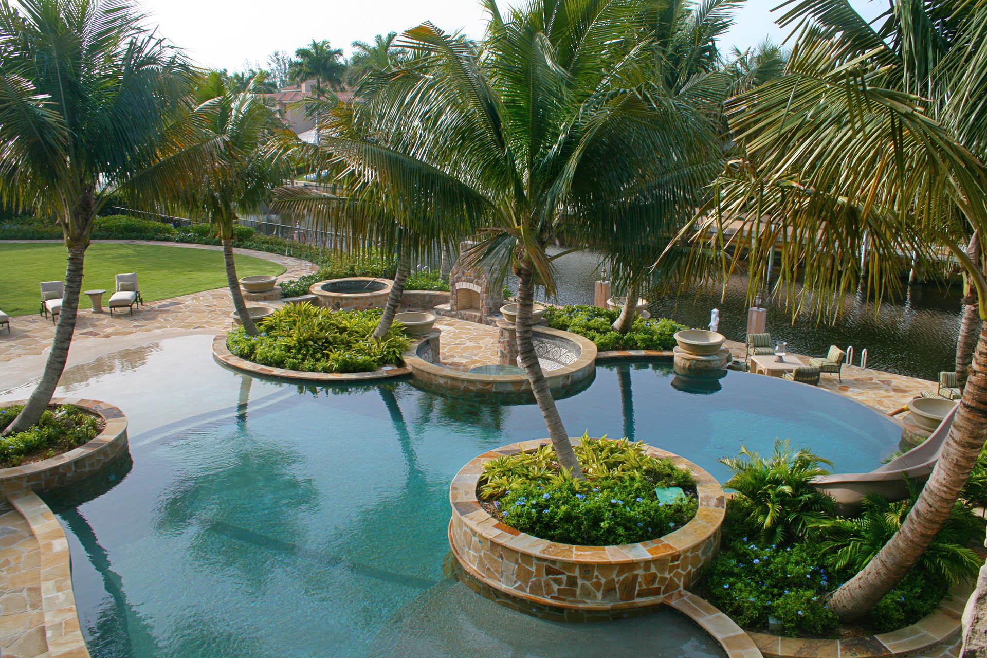 Swimming Pool Spa Water Slide - Boca Raton