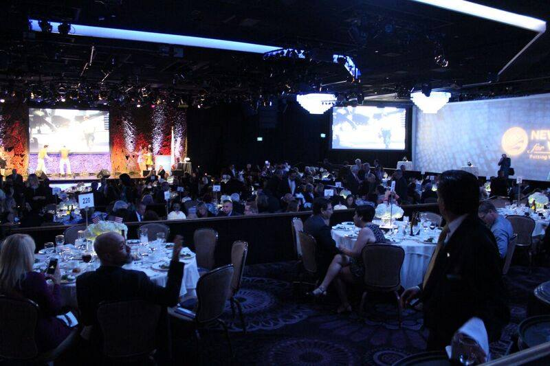 View of the ballroom during the event