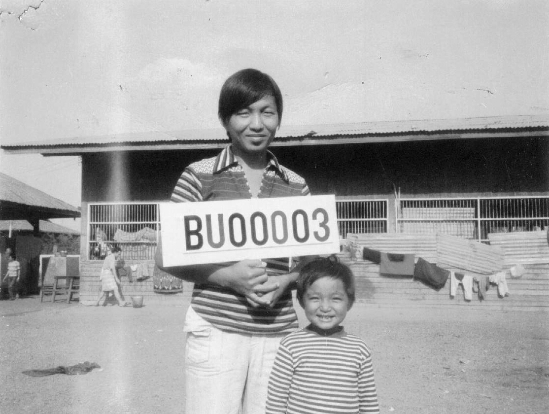 Bunseng in Refugee Camp  Bunseng (left) with his nephew Heng in Buriram Refugee Camp 1979.