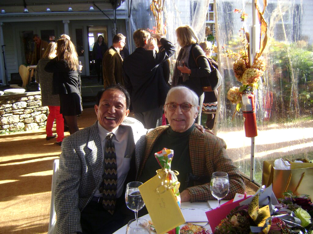 Bunseng and Bob 2011  Bunseng (left) and Bob (right) at Robert P. DeVecchi's 80th Birthday Party Celebration in Southport, CT.
