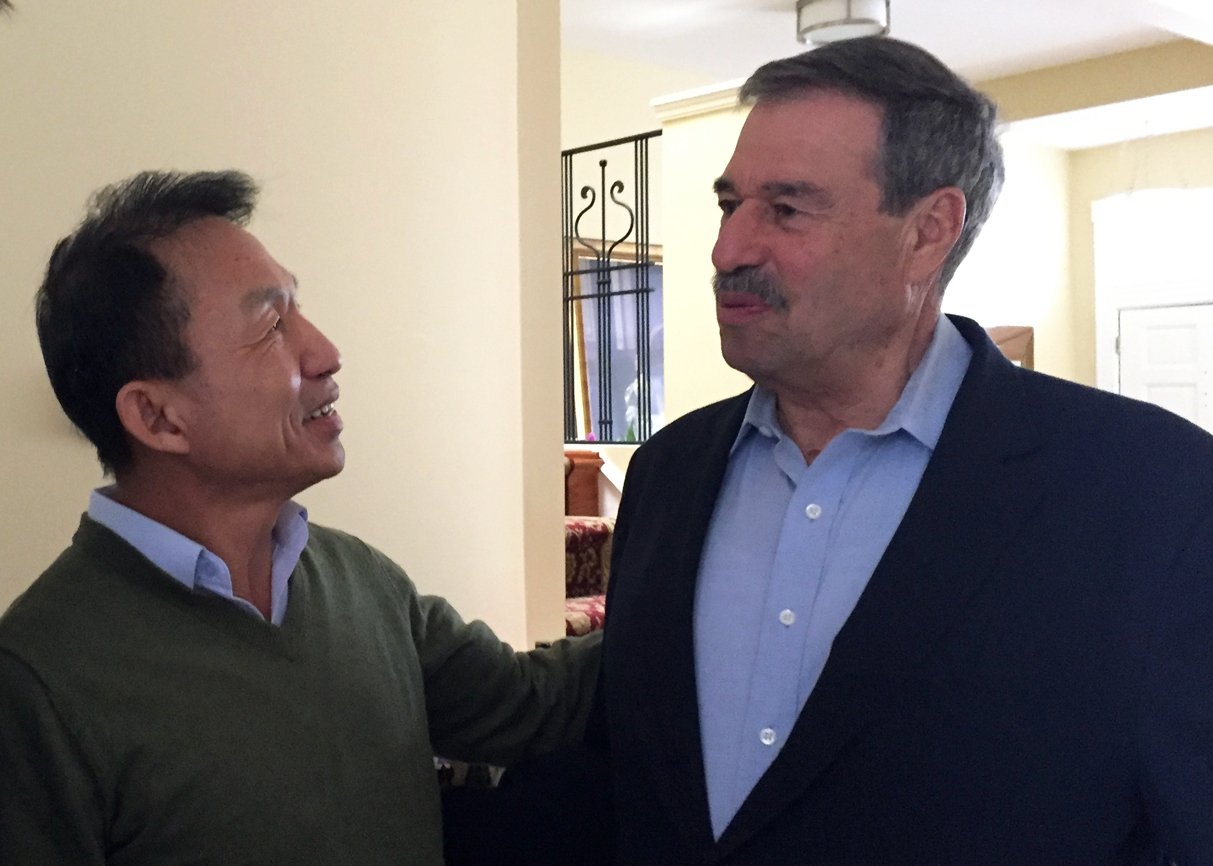 Lionel Rosenblatt 2016  Bunseng (left) and Lionel Rosenblatt (right). Lionel was singlehandedly the force of nature that strongly advocated for refugees in the U.S. State Department. This picture was taken in March 2016 in Washington D.C.
