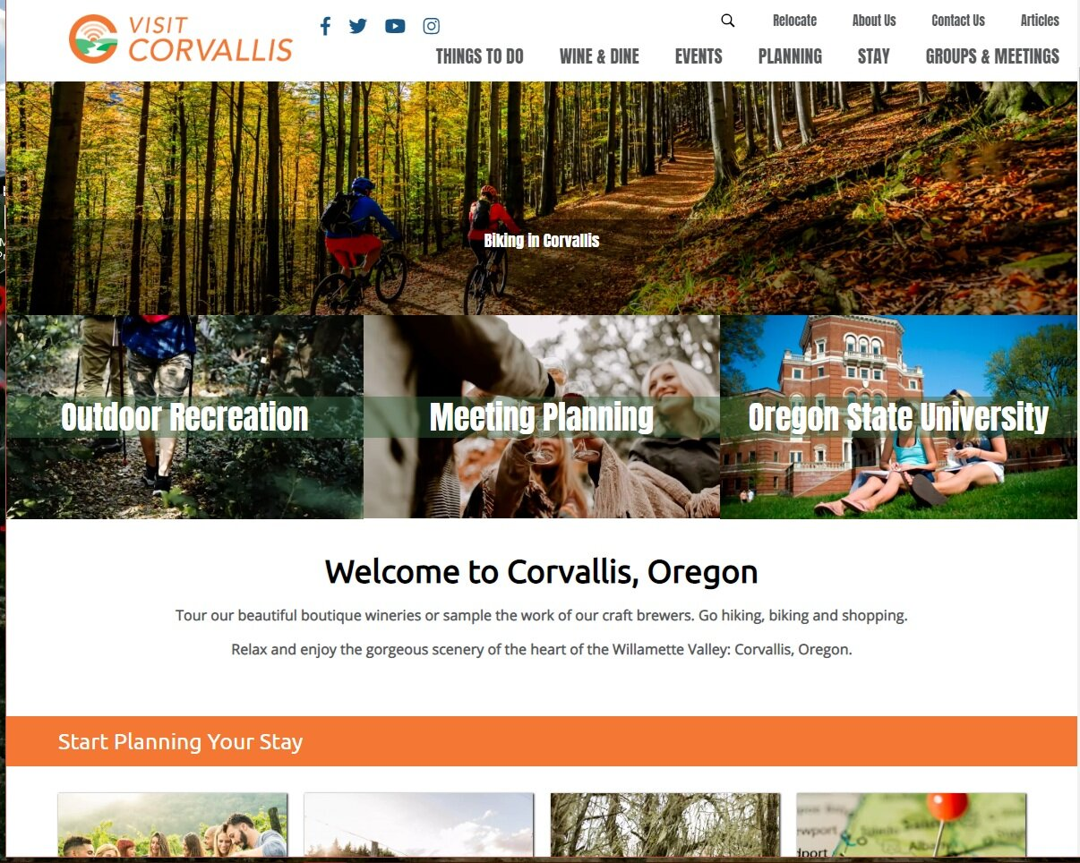 CLICK HERE TO VISIT CORVALLIS  - Looking for more information go to the Visit Corvallis website form more information.