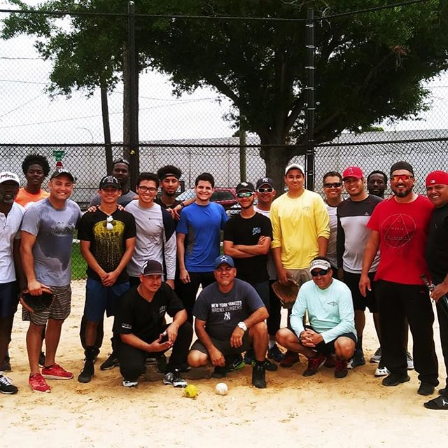 Fun day playing softball with the men of Orlando Central.