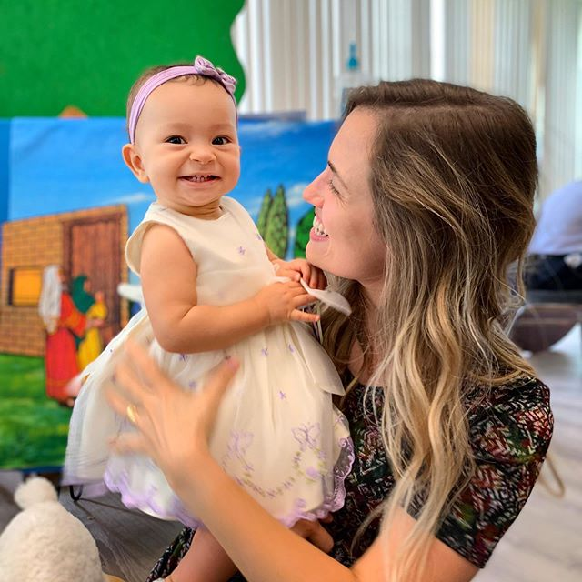 The smile of a happy baby with her sabbath school teacher ❤️❤️ We are featuring our cradle roll class today in our stories! Check it out