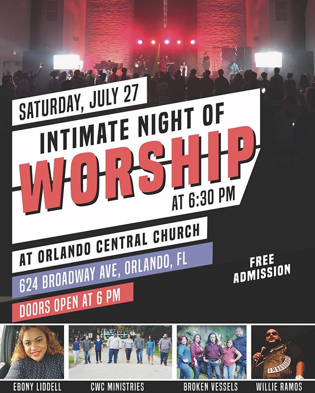 "This Saturday at 6:30pm we have ""Intimate Night of Worship"" with amazing music. This is a great opportunity to invite friends to worship and fellowship together."