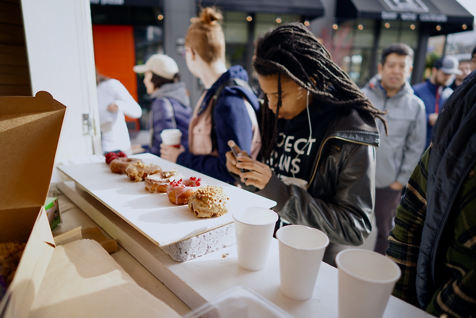 RAISED DOUGHNUTS X UNIVERSITY VILLAGE POP UP  11.18.2017 We were overwhelmed with the turn out today! Thanks for all the love and we'll make sure those who didn't get through the line definitely get through at the next one! (aka we're making more!)
