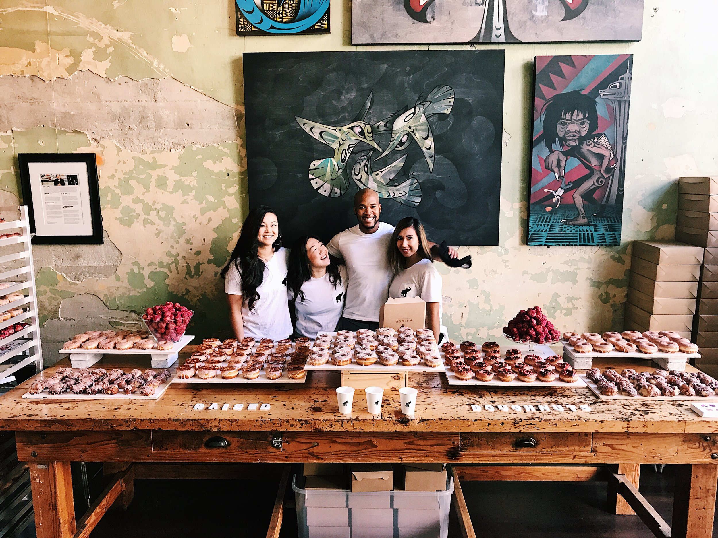 RAISED DOUGHNUT POP UP X2  5.21.17 Another great success! We tripled the amount of doughnuts this time around and still sold out within 2 hours! Thanks to everyone who made it out and supporting!