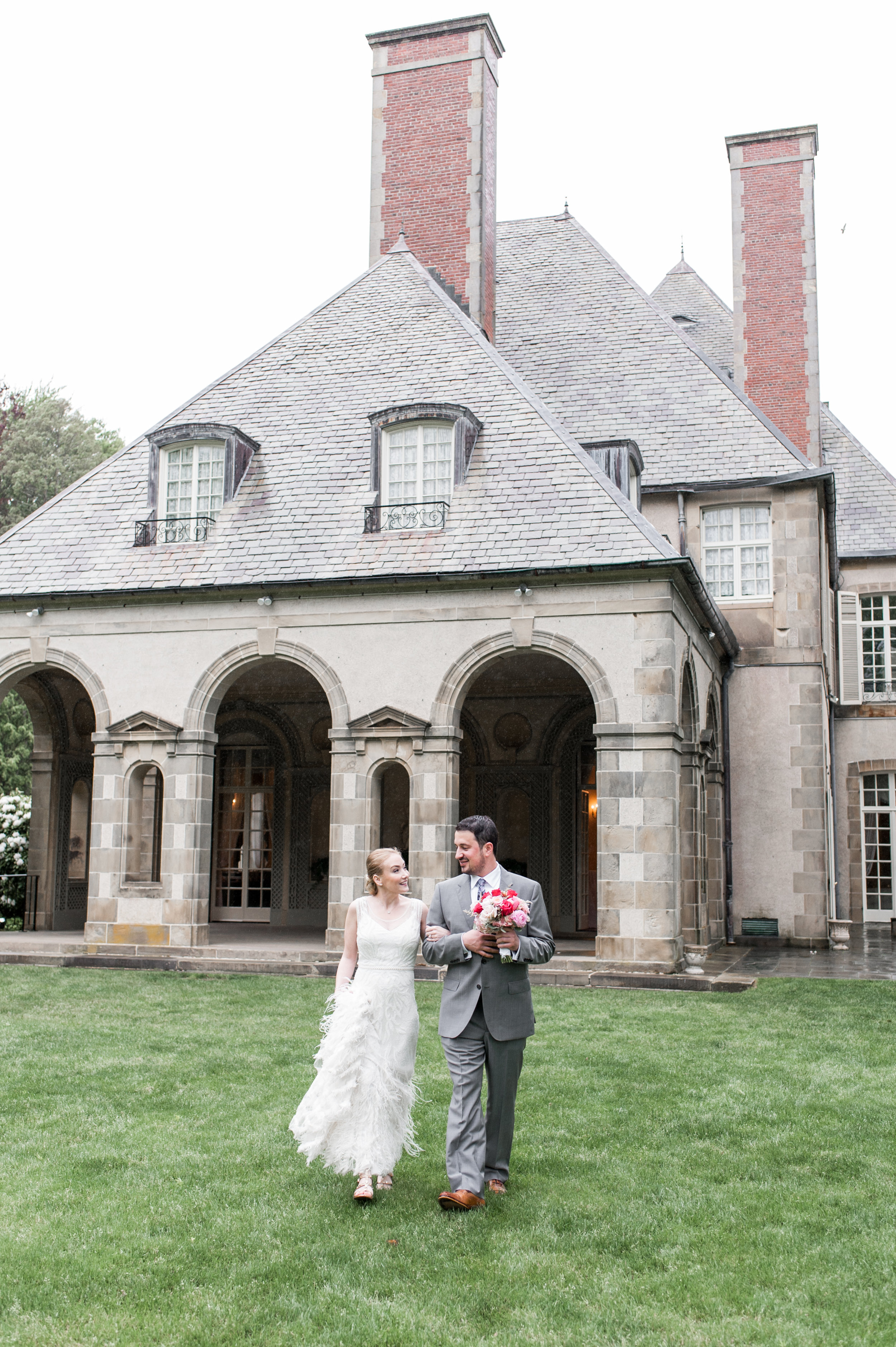 A+Z's Old World Romantic Estate Wedding at Glen Manor House in Portsmouth, RI