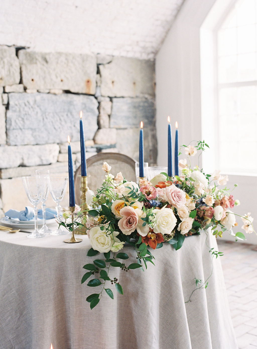 Old-World Elegance With Shades of Terracotta and Soft Blue at Fort Adams Trust