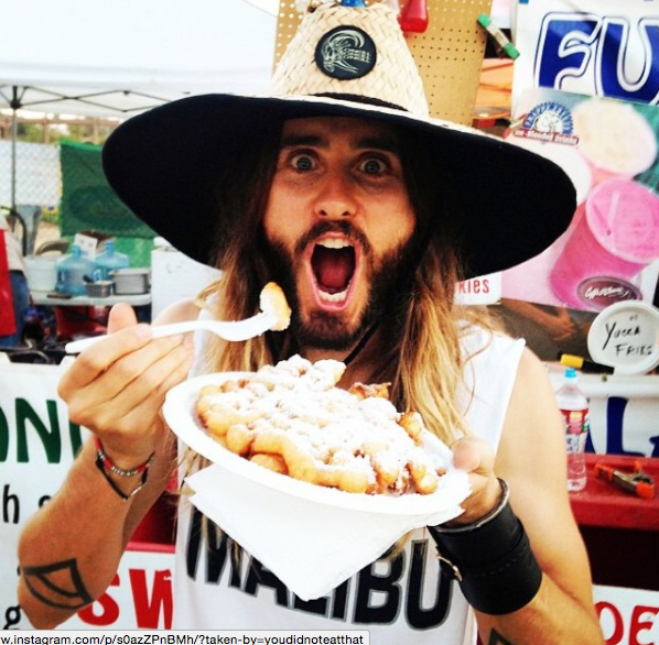 Jared, Jared, Jared. Do you really think we believe that this is how you prepared for that Gucci commercial?