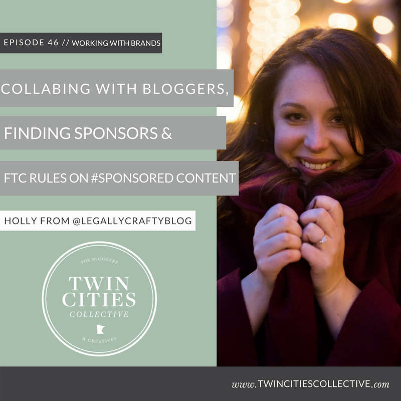 Collaborating with Bloggers, Finding Sponsors & FTC Rules on sponsored ads with Holly of @legallycraftyblog