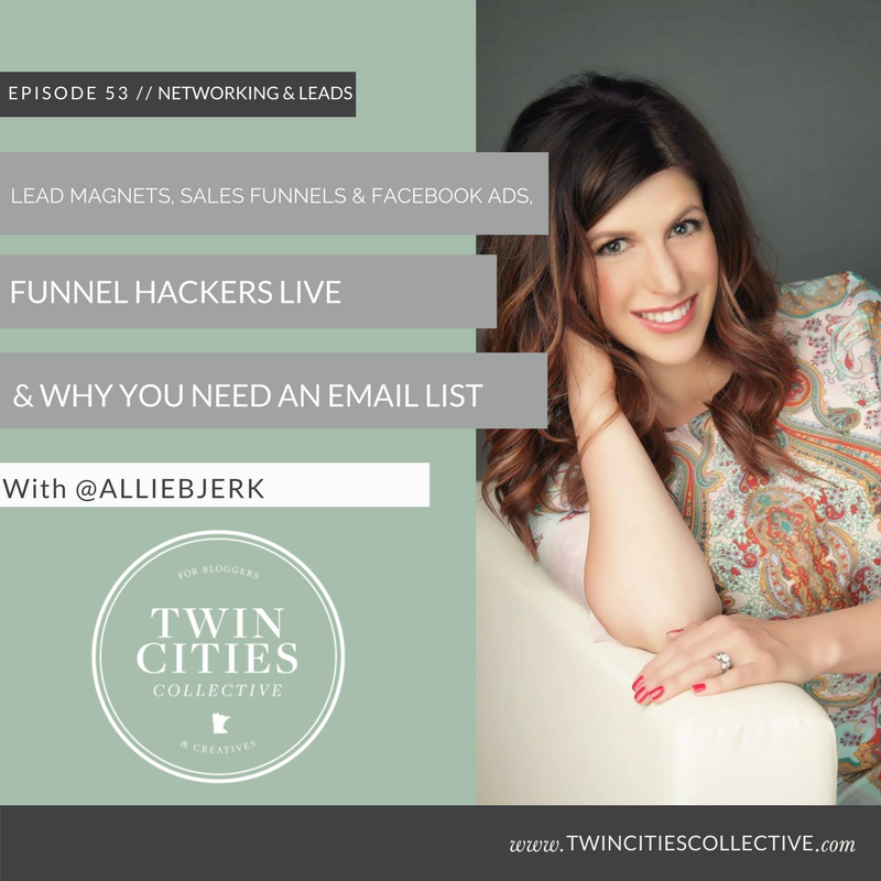 Lead Magnets, Sales Funnels & Facebook Ads, Funnel Hackers live & why you need an email list with @alliebjerk