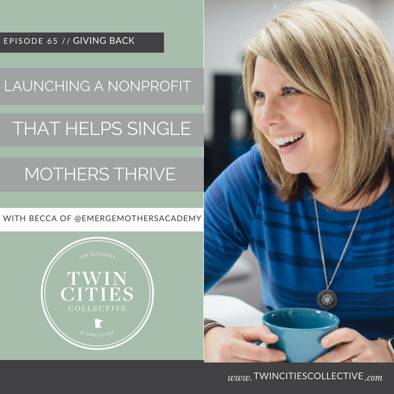 Launching a Non-Profit that helps single mothers thrive with @emergemothersacademy