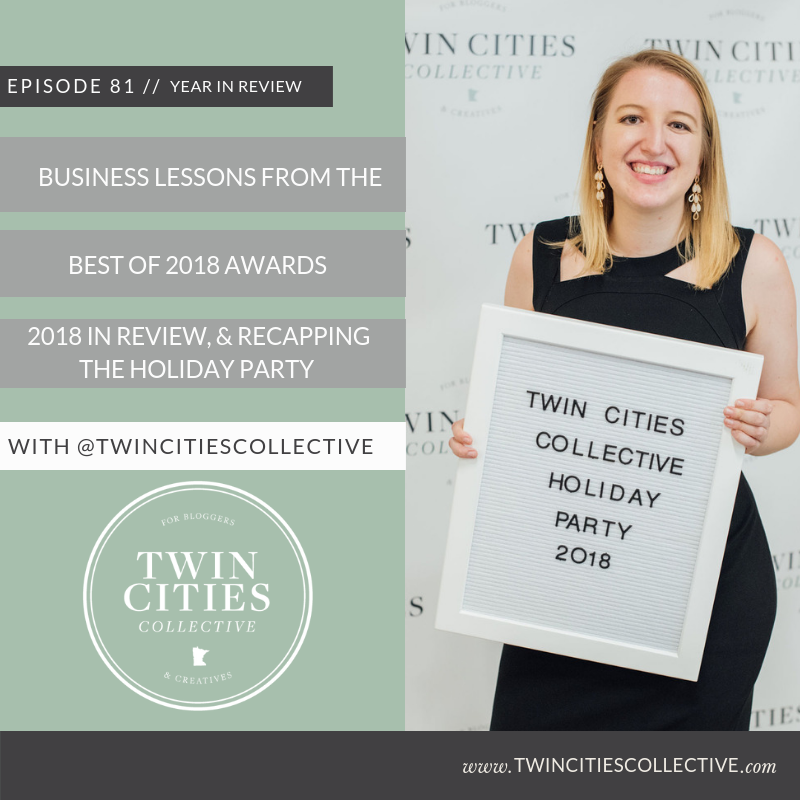 2.81 Business Lessons From The Best of 2018 Awards, 2018 in Review, Recapping The Holiday Party