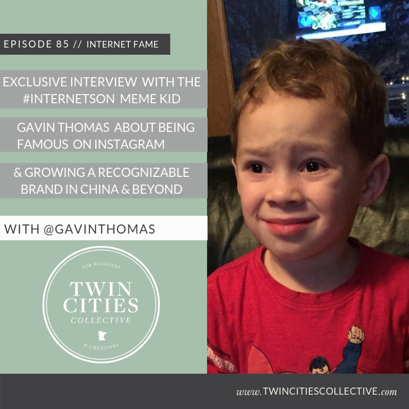 3.85 Exclusive Interview with the #internetson Meme Kid Gavin Thomas about Being Famous on Instagram, & Growing a  Recognizable Brand in China & Beyond