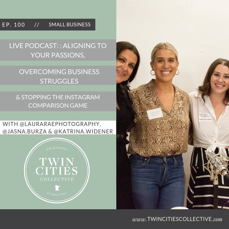 Live Podcast: Aligning To Your Passions, Overcoming Business Struggles, & Stopping the Instagram Comparison Game