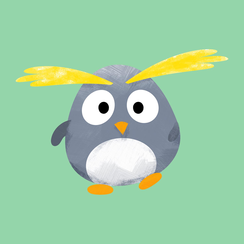 Macca the Macaroni Penguin