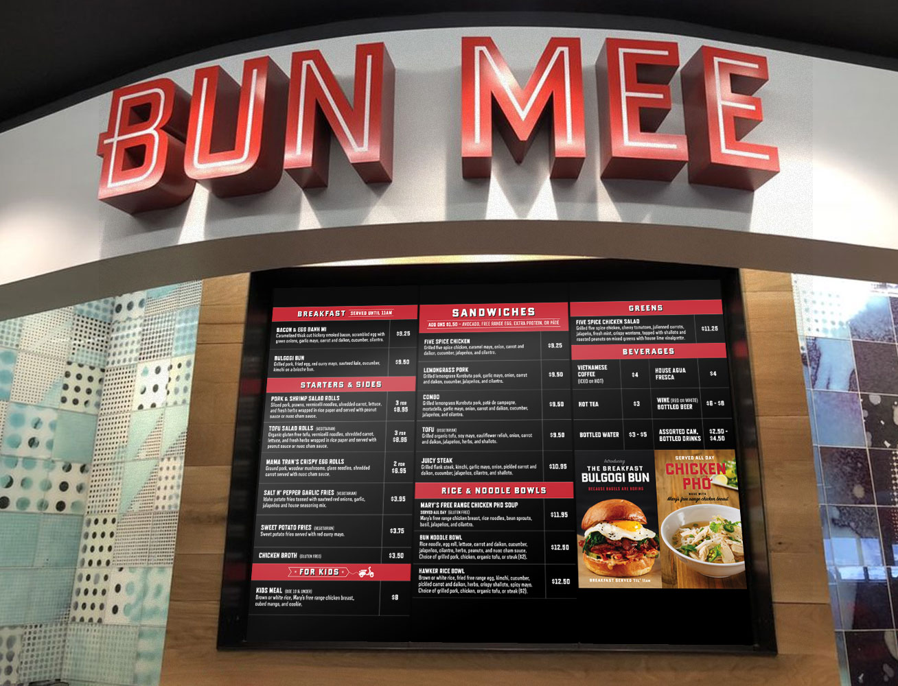 Copy of Bun Mee Menu & Ad Design
