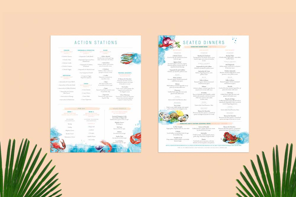 La Mar – Events Menu