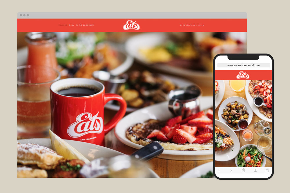 Eats restaurant branding and website design