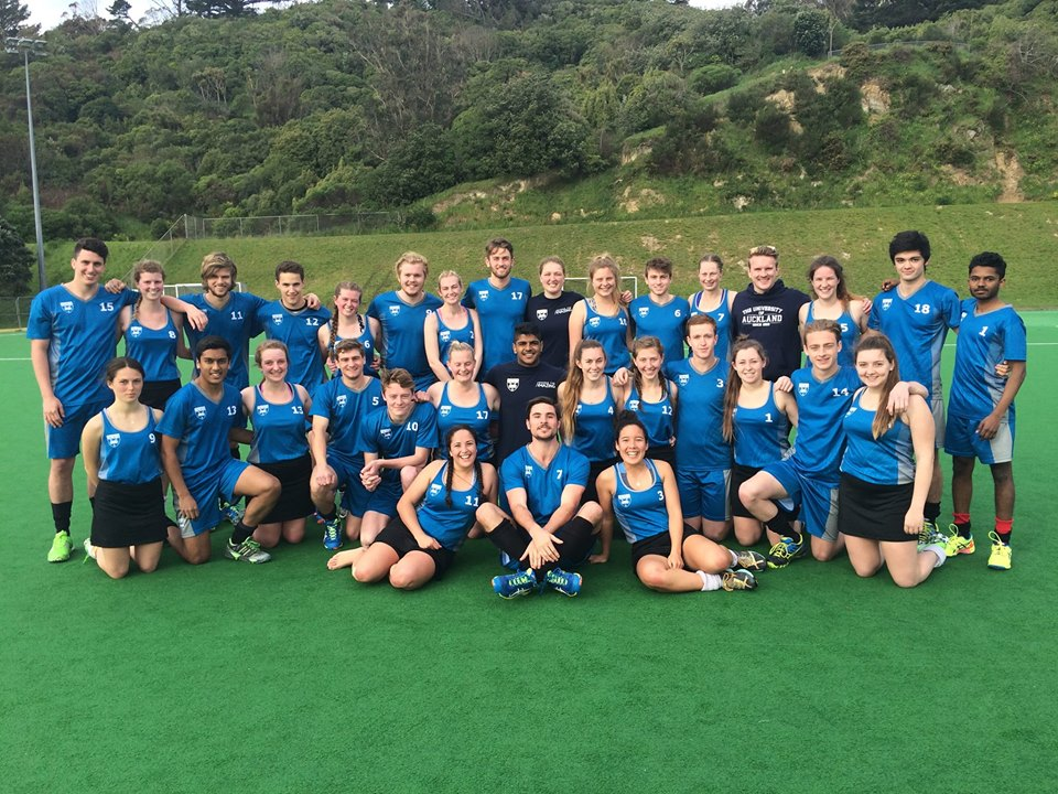 University of Auckland Tertiary Hockey Championship teams (Photo Credit: Tiwai Wilson)