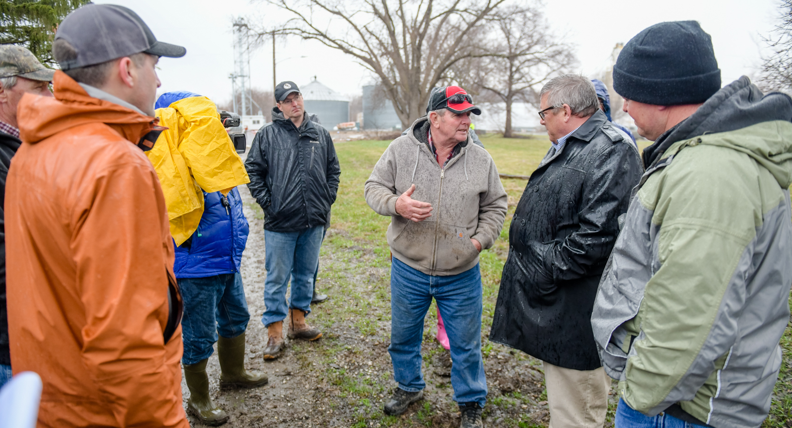 USDA Under Secretary Bill Northey about damage his farm sustained from Missouri River flooding.