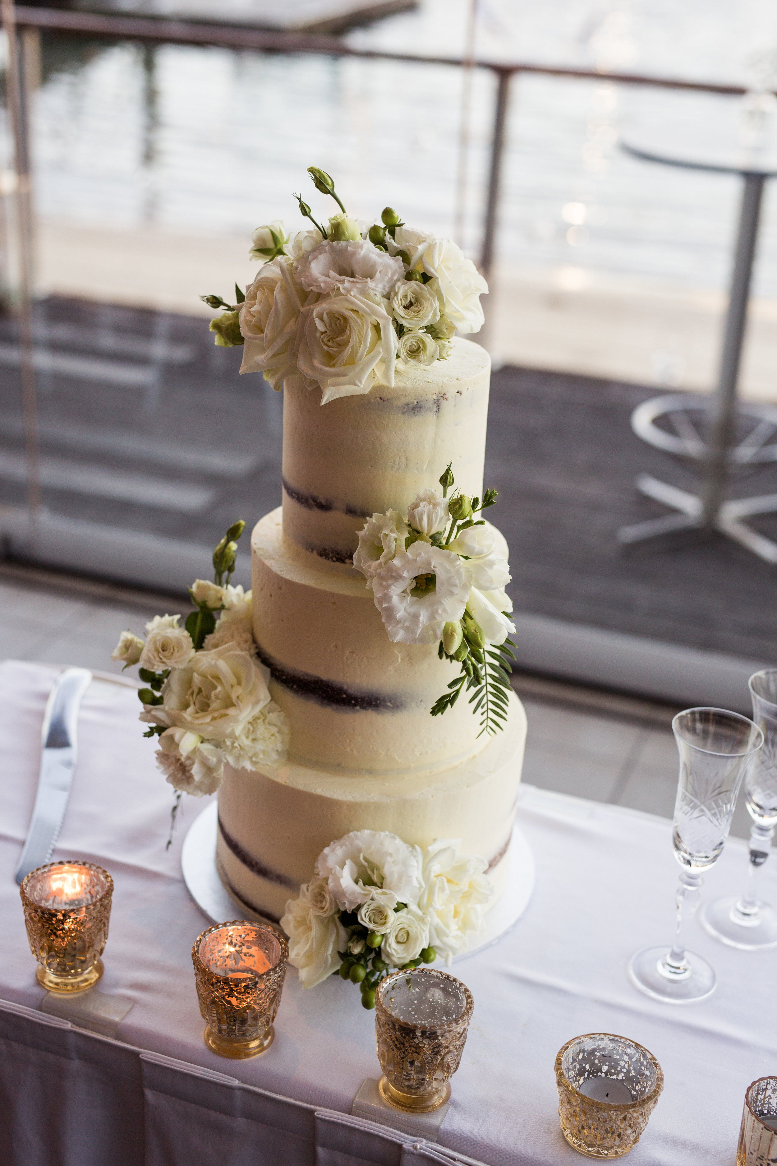 Three tiered Cakes from $500 - Two sizes available feeding between 90 - 120 guests