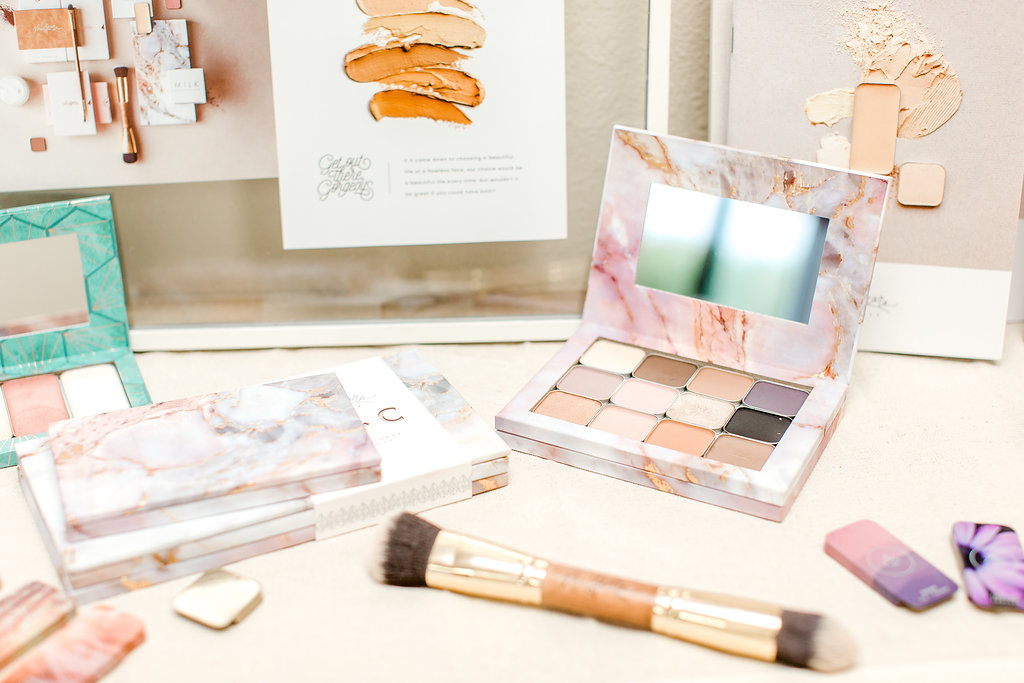 Maskcara makeup palettes and brushes highlight and contour