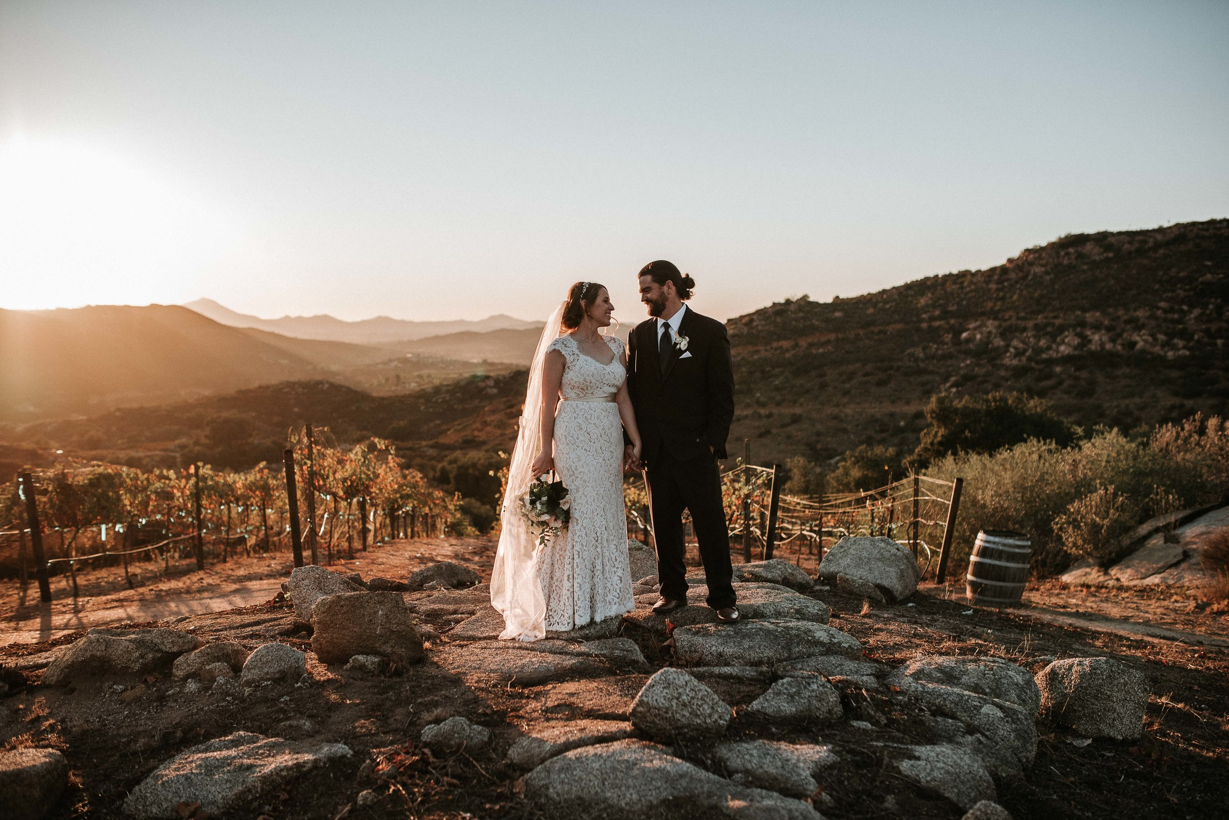 Milagro Farms   This is hands down my favorite wedding venue in San Diego and it perfectly suited these two. They are adventures and love the outdoors which made Milagro Farms and Winery the perfect backdrop.   View Gallery