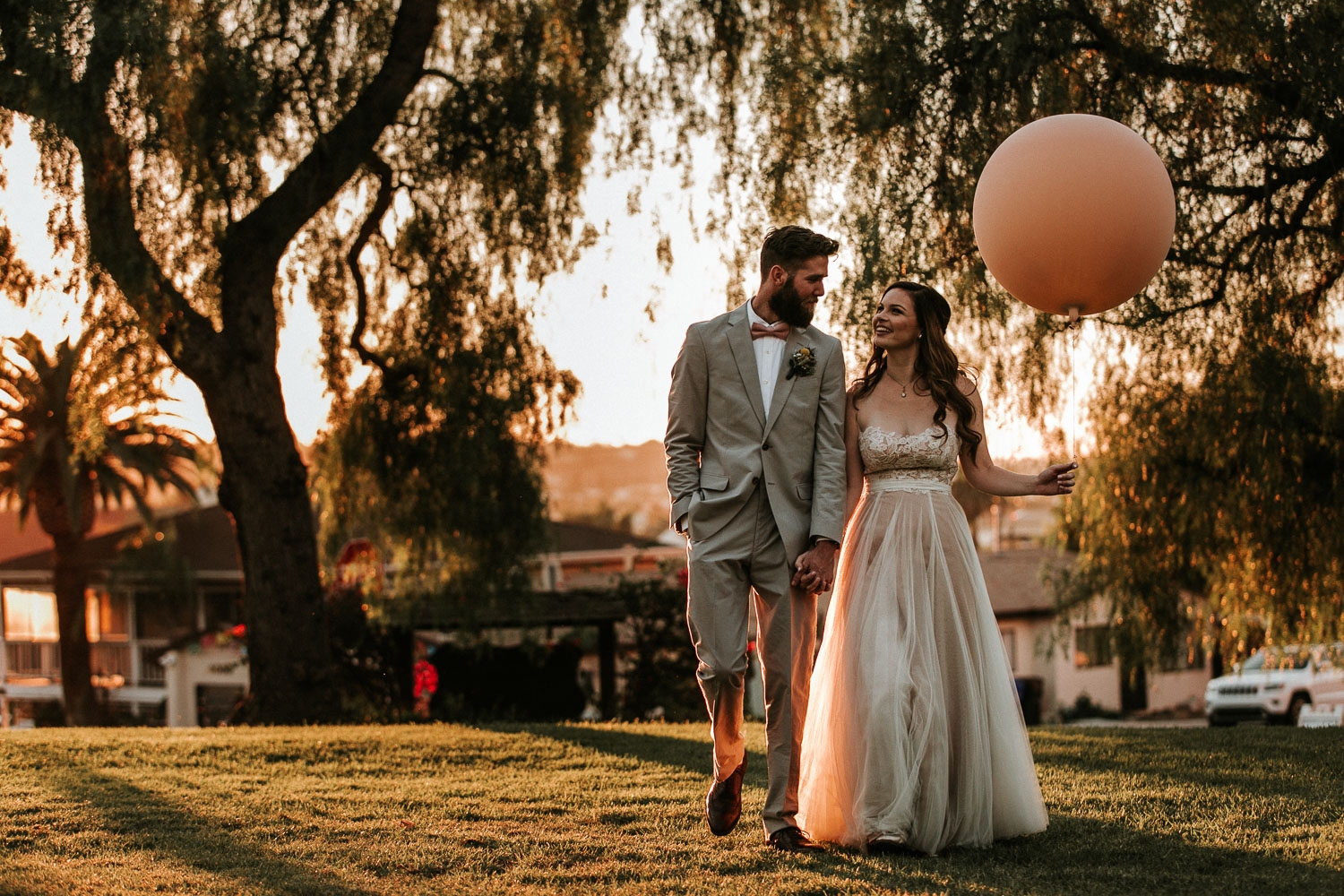 Heritage Park   It was a perfect outdoor wedding; dreamy afternoon light + whimsical boho touch. The bride and groom chose Heritage Park in San Diego for their fall wedding. The day was filled love, tacos and ice cream!     View Gallery