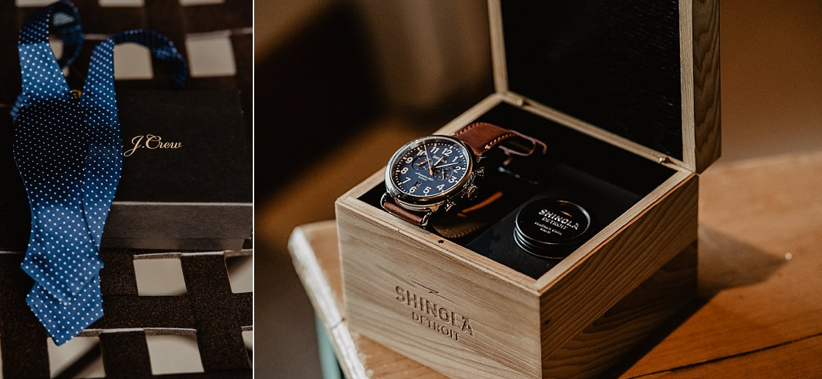 Wedding day gifts for the groom by Lisa Fitts Photography