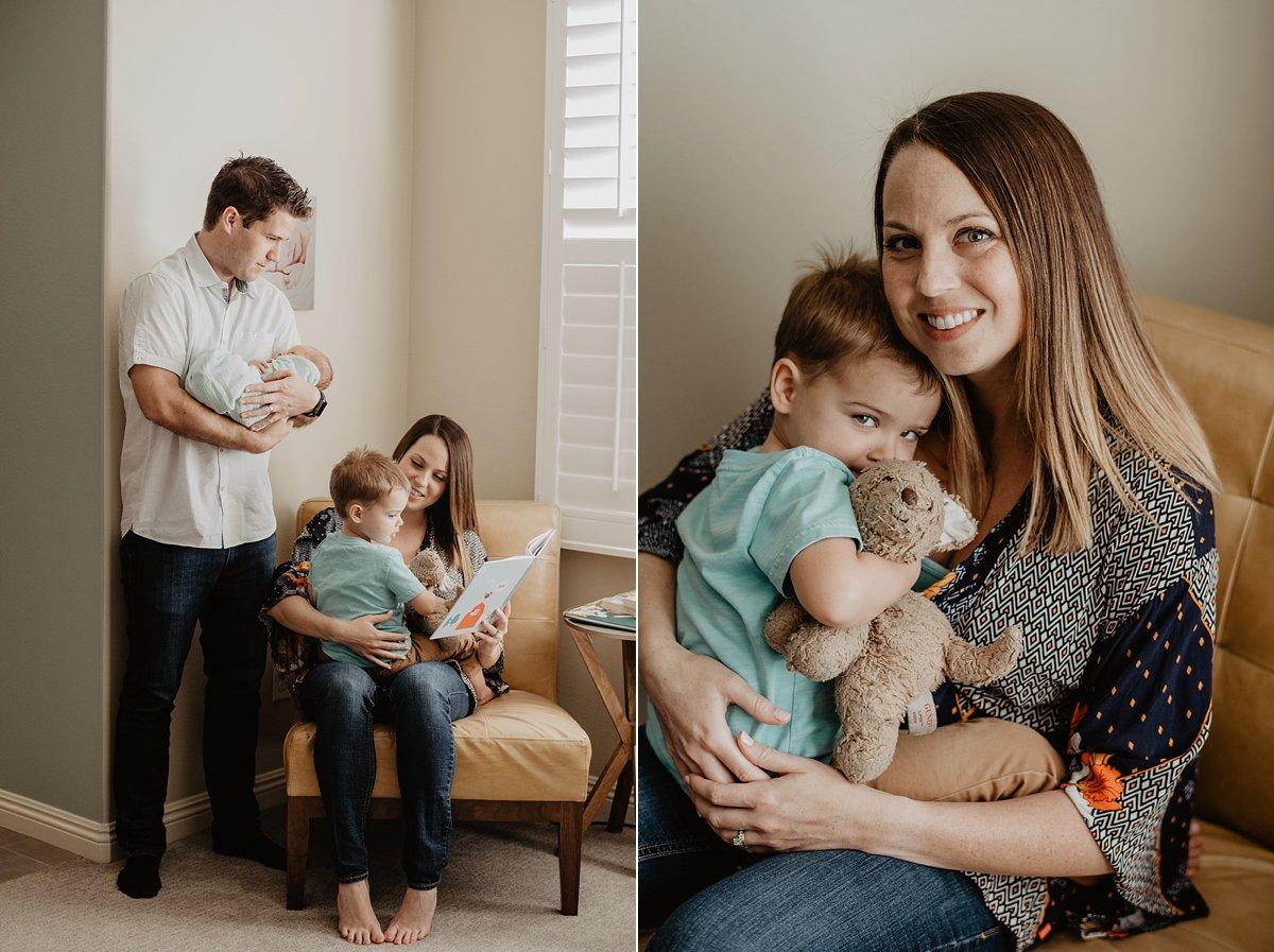 lifestyle family newborn session