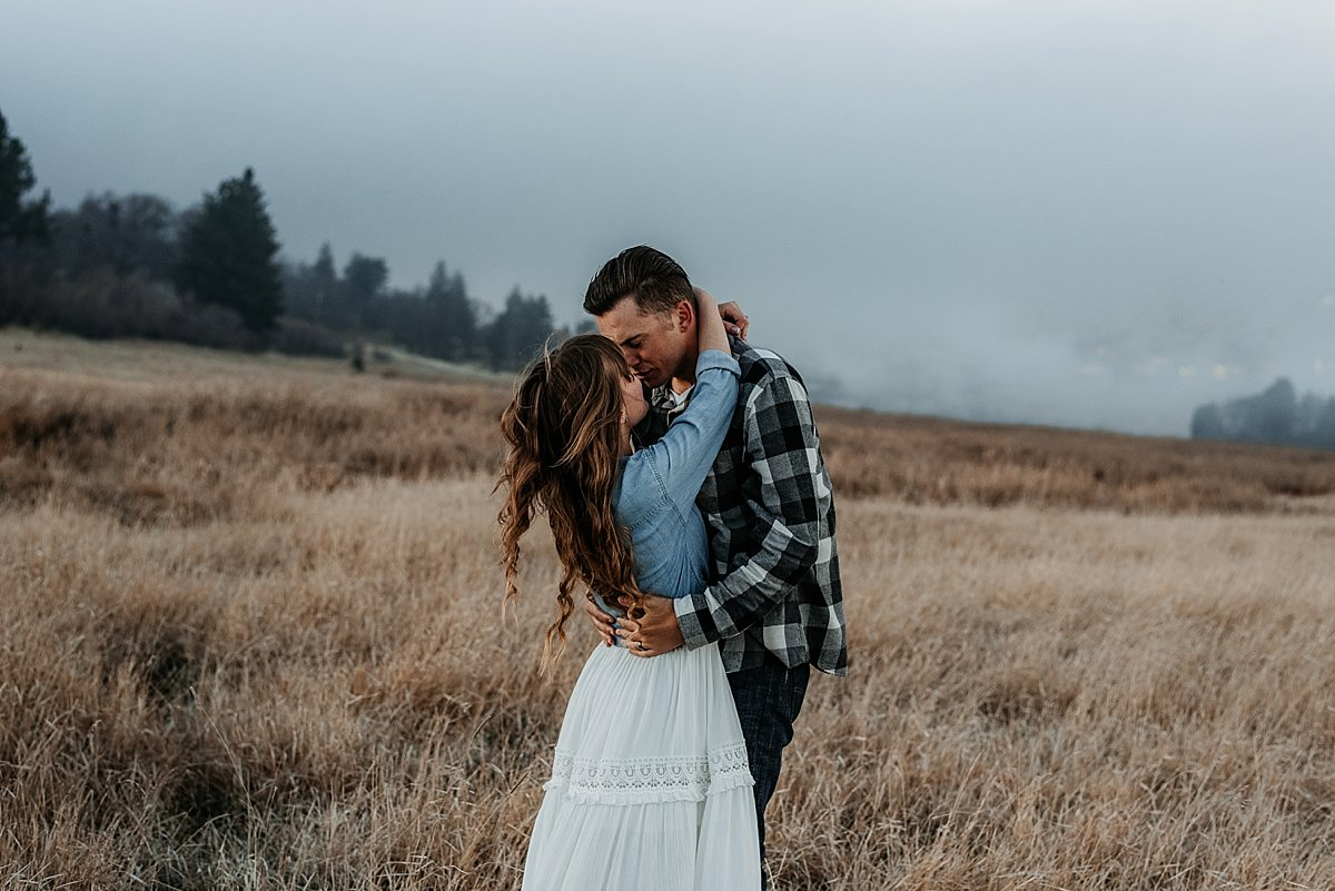 Mountain Adventure Engagement Photos