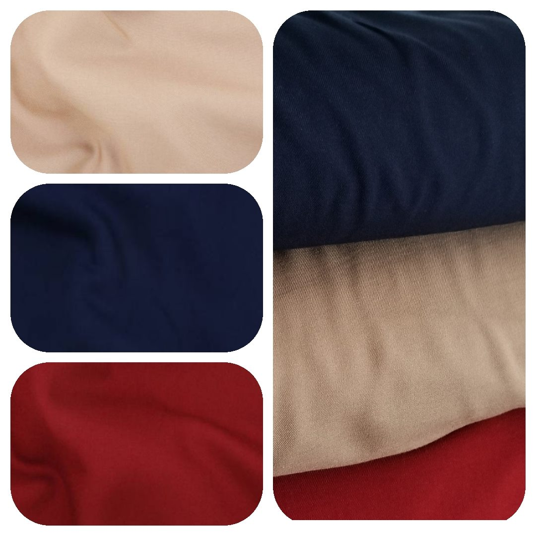 Rayon twill in beige, navy, and bordeaux. These would be great for the Chalk and Notch  Joy Jacket currently in testing .