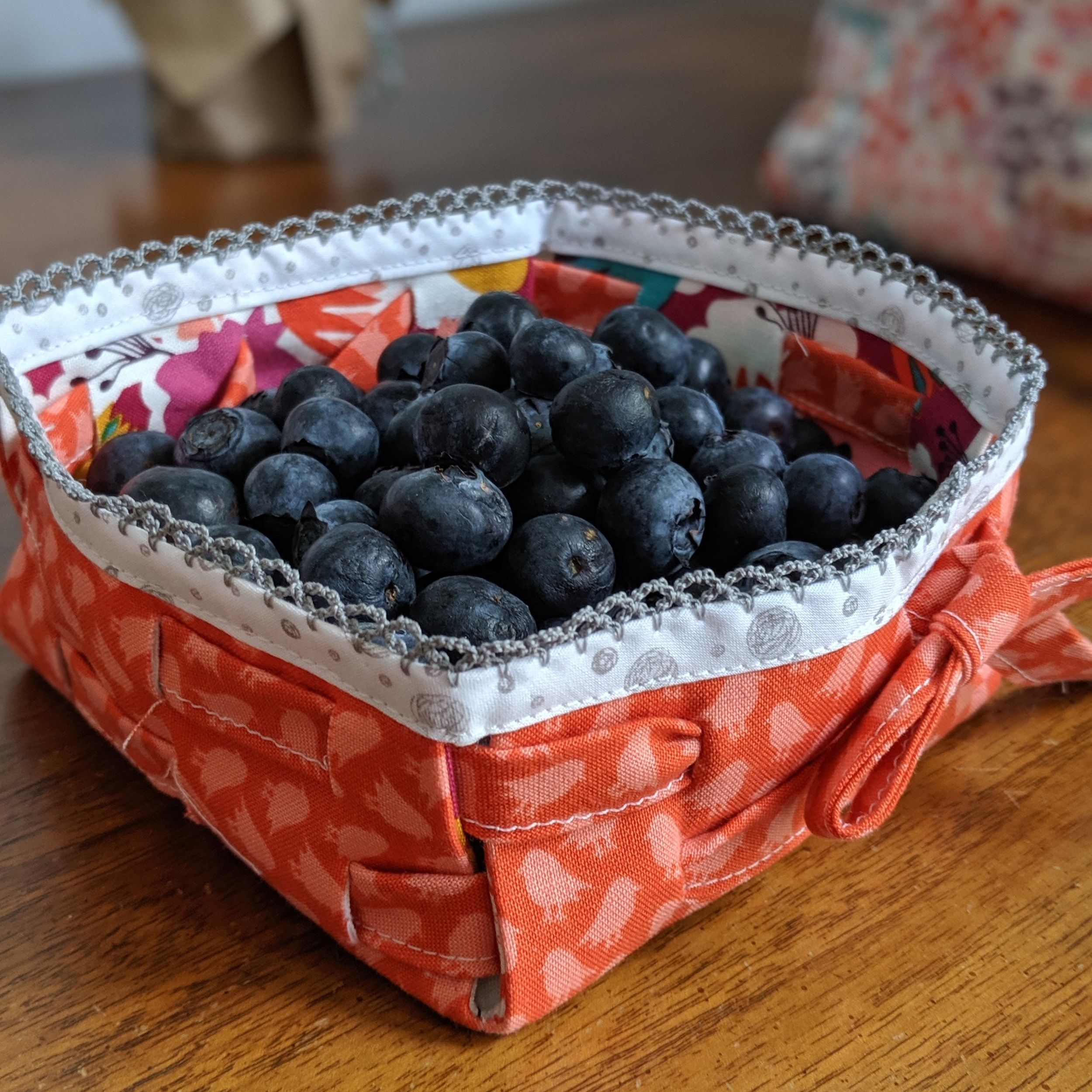 small basket, using Songbird and Bloom Bouquet prints