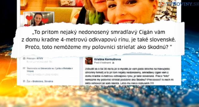 Fb status moderátorky RTVS (zdroj: pluska.sk)