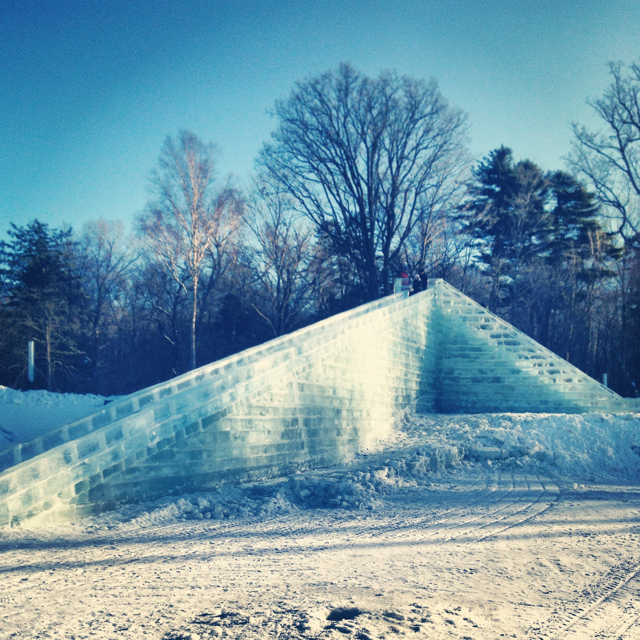 An ice slide you could tube down
