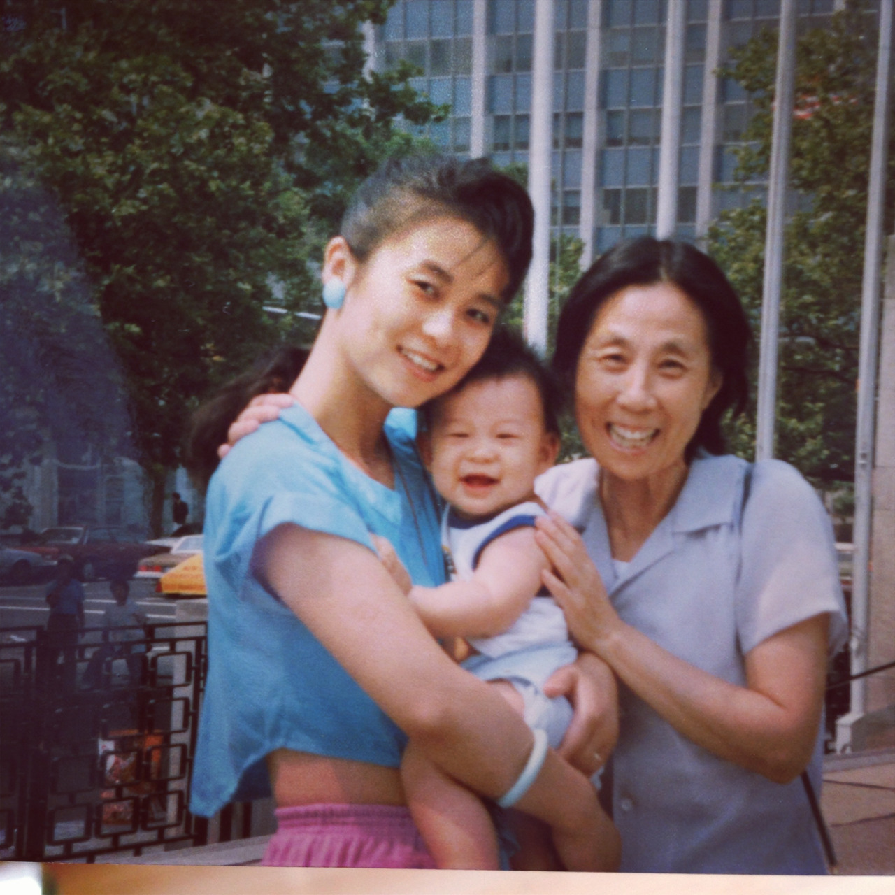 Mom, Mike, and grandma