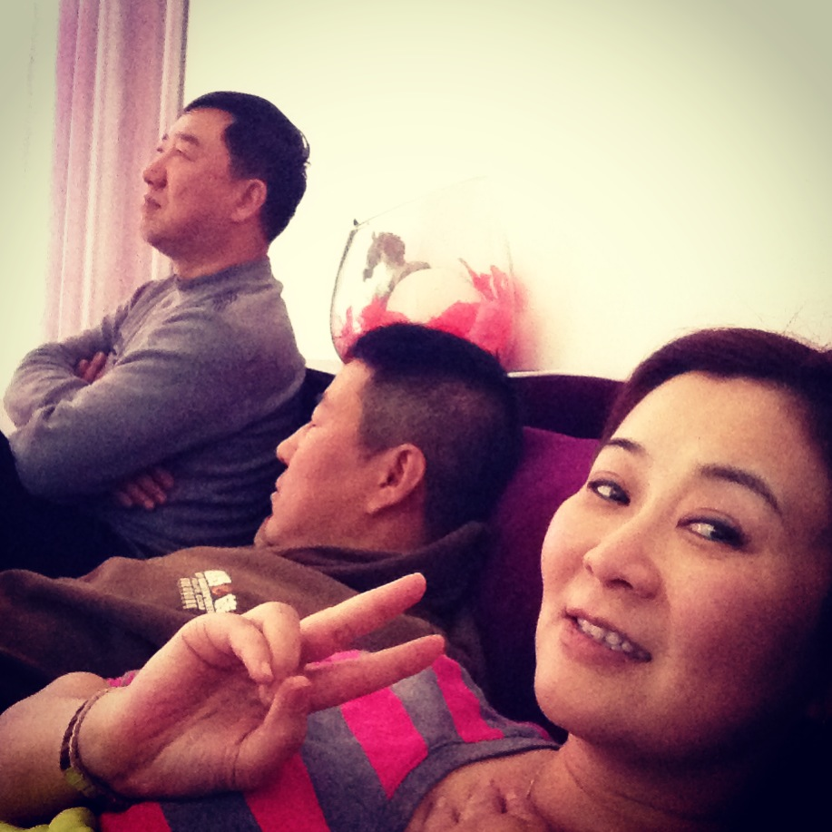 Watching Lost in Thailand with Mike's mom and friends