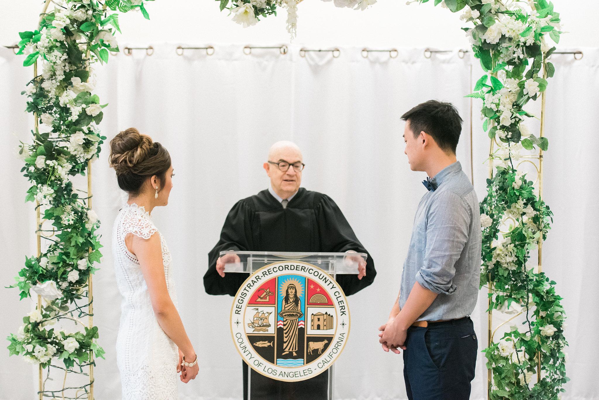 Beginning the ceremony